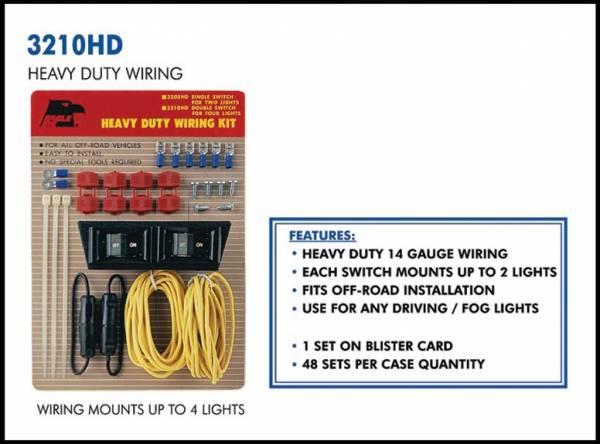 Eagle Eye Lights - Eagle Eye Lights 3210HD Wiring Kit for 4 Lights 14 Gauge Wiring 20 AMP Fuse Kit