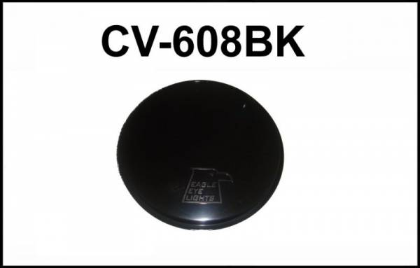 "Eagle Eye Lights - Eagle Eye Lights CV-608BK Solid Black Covers for 6"" Internal Ballast HID HID608 & Non-HID 6"" Lights HG608 Each"