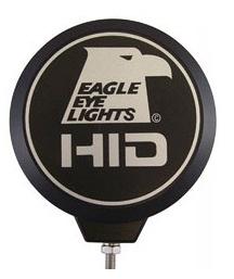 "Eagle Eye Lights - Eagle Eye Lights CV-608-CVR Black ABS Cover with Eagle Eye Lights Logo and Wording ""HID"" Each"