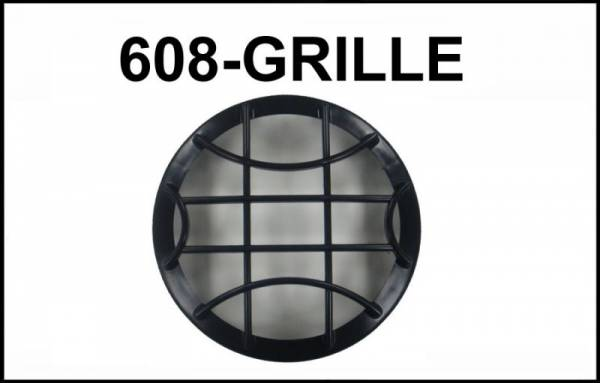 "Eagle Eye Lights - Eagle Eye Lights CV-608-GRILL Black Grille Guard for 6 3/16"" HID608 and Non-HID HG608 Lights No Wording Each"