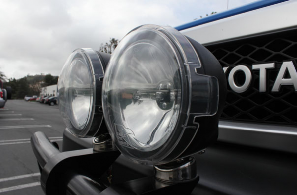 """Eagle Eye Lights - Eagle Eye Lights HID505BF 4 31/32"""" Black 35W Internal Ballast HID Flood Clear Round HID Off Road Light with ABS Cover Each"""