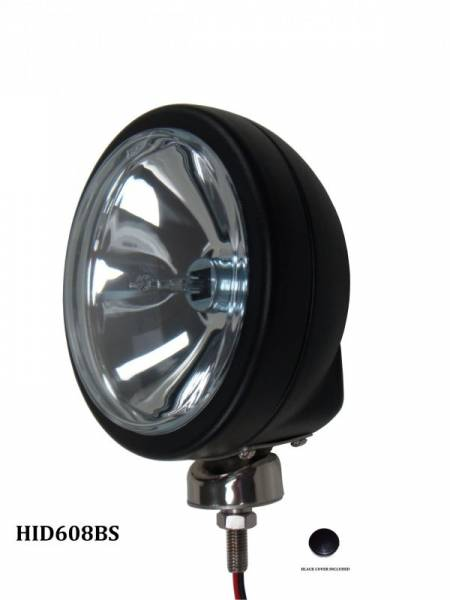 """Eagle Eye Lights - Eagle Eye Lights HID608BS 6 3/16"""" Black 35W Internal Ballast HID Spot Clear Round HID Off Road Light with ABS Cover Each"""