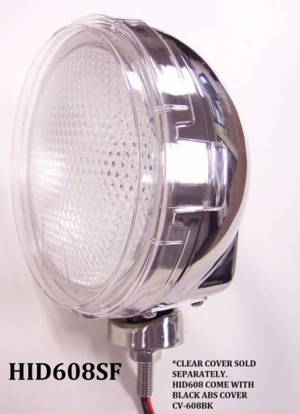 "Eagle Eye Lights - Eagle Eye Lights HID608SF 6 3/16"" Stainless Steel 35W Internal Ballast HID Flood Clear Round HID Off Road Light with ABS Cover Each"