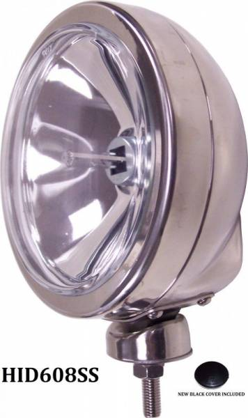 "Eagle Eye Lights - Eagle Eye Lights HID608SS 6 3/16"" Stainless Steel 35W Internal Ballast HID Spot Clear Round HID Off Road Light with ABS Cover Each"