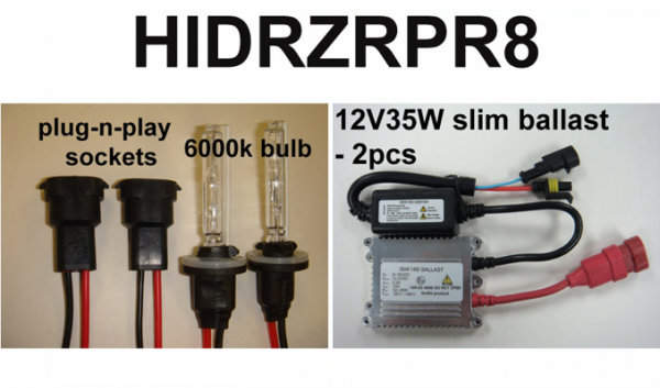 Eagle Eye Lights - Eagle Eye Lights HIDRZRPR8 2008-2012 Polaris RZR and Polaris Ranger 35W HID Kit