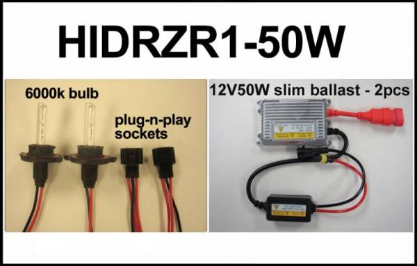 Eagle Eye Lights - Eagle Eye Lights HIDRZR1-50W 2011-2012 Polaris RZR 50W HID Upgrade Kit