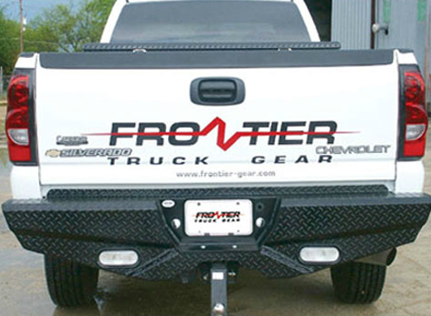 Frontier Gear - Frontier 100-21-1013 Rear Bumper with Sensors and Lights Chevy Silverado 2500HD/3500 2011-2014