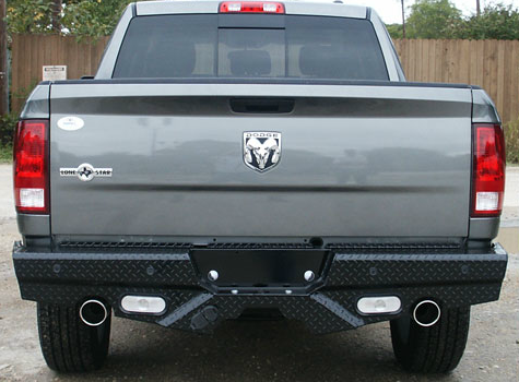 Frontier Gear - Frontier 100-40-9003 Rear Bumper with Sensor Holes and No Lights Dodge 1500 Dual Exhaust 2009-2012