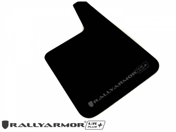 "Rally Armor - Universal UR Plus Black Mud flap with Grey Logo 11.5"" x 19"""