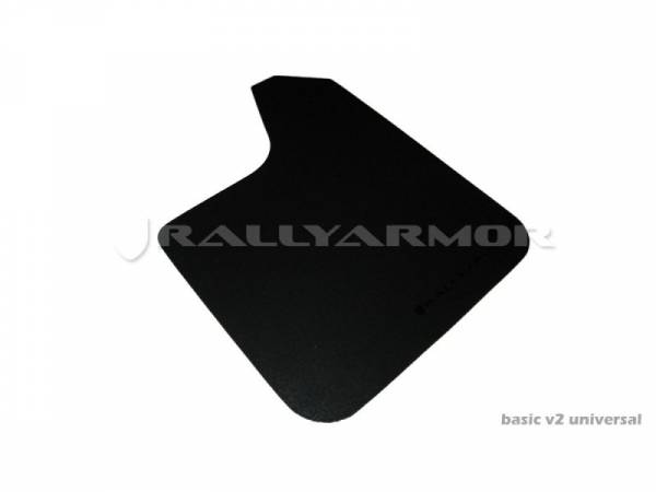 "Rally Armor - Rally Armor MF12-BAS-BLK Basic Plus Universal Mud Flap 12"" W x 19"" H"