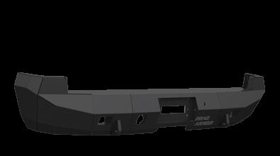 Road Armor - Road Armor 38500B Rear Stealth  Bumper with Sensor Holes Chevy Silverado 1500 2007-2013