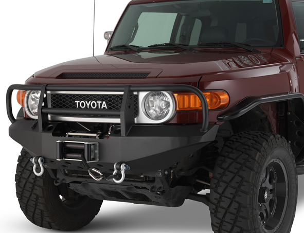 Warrior - Warrior 3520 Winch Front Bumper with D-rings Toyota FJ Cruiser 2007-2012