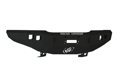 Road Armor - Road Armor 33700B Front Stealth Winch Bumper with Square Light Holes Chevy Silverado 2500HD/3500 2003-2006