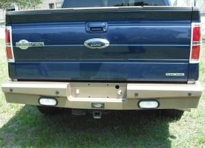 Truck Bumpers - American Built - American Built - American Built 3RX23112 Panther Rear Bumper with Lights Chevy Silverado 2500/3500 2011-2014