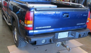 Truck Bumpers - Hammerhead Bumpers - Hammerhead 600-56-0120 Rear Bumper without Sensors Chevy Silverado 1500 1999-2006 Step Side