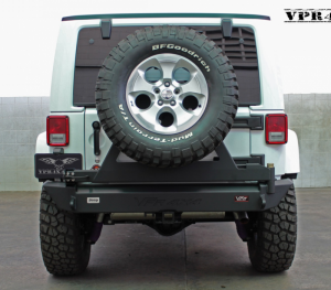 Truck Bumpers - VPR 4x4 - VPR 4x4 VPR-123-C Rear Bumper with Tire Carrier Jeep Wrangler JK 2007-2016