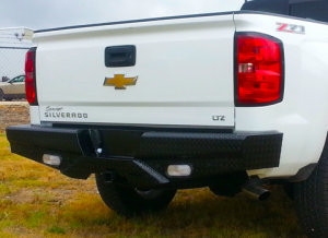 Truck Bumpers - Frontier Gear - Frontier 100-21-5012 Rear Bumper with Sensor Holes Chevy Silverado 2500HD/3500 2015-2019