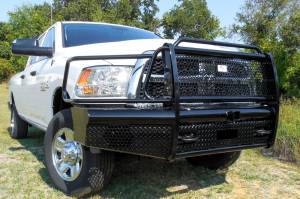 Truck Bumpers - American Built - American Built H3D23102 Pipe Front Bumper Dodge RAM 2500/3500 2010-2017