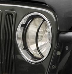 Exterior Accessories - Exterior Lighting - Smittybilt - Smittybilt 5692 Euro Headlight Guard