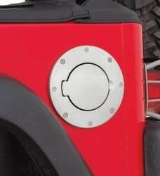 Fuel Storage - Fuel Filler Door Cover - Smittybilt - Smittybilt 75000 Billet Style Gas Cover