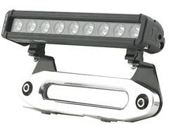 Winch Accessories - Winch Fairlead Light Mount - Smittybilt - Smittybilt 2814 Aluminum Hawse Fairlead Light Mount