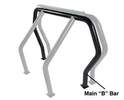 Exterior Lighting - Light Bar - Go Rhino - Go Rhino 90002B Rhino Bed Bars Rear Main B Bar