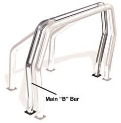 Exterior Lighting - Light Bar - Go Rhino - Go Rhino 90002PS Rhino Bed Bars Rear Main B Bar