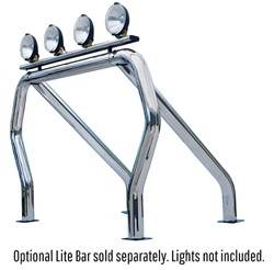 Exterior Lighting - Light Bar - Go Rhino - Go Rhino 9009560SSS Classic Off-Road Style Bed Bars Kit