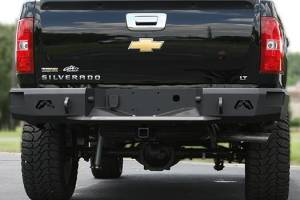 Rear Bumpers - Chevy - Fab Fours - Fab Fours CH14-W3051-1 Premium Premium Rear Bumper with Sensors Chevy Silverado 2500HD/3500 2015-2017