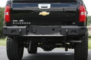Truck Bumpers - Fab Fours Premium - Fab Fours - Fab Fours CH14-W3051-1 Premium Premium Rear Bumper with Sensors Chevy Silverado 2500HD/3500 2015-2017