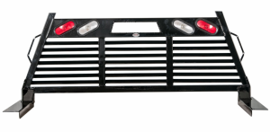 Frontier 2HR Headache Rack - Chevy/GMC - Frontier Gear - Frontier Gear 110-20-7008 2HR Headache Rack Chevy/GMC 1500/2500/3500HD Full Louvered With Lights 2007-2015