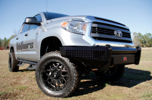 Truck Bumpers - Fab Fours Black Steel - Toyota Tundra 2007-2013