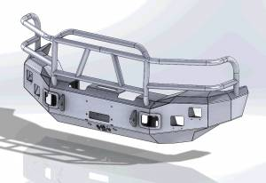 Superduty Bumpers - Ford Superduty 1999-2004 - Hammerhead Bumpers - Hammerhead 600-56-0097 Winch Front Bumper with Full Grille Guard Ford F250/F350 1999-2004
