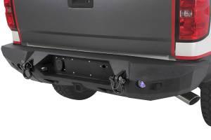 Truck Bumpers - Smittybilt - Smittybilt 614820 M1 Rear Bumper Chevy Silverado 2500HD/3500 2007-2010