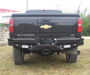 Truck Bumpers - Frontier Gear - Frontier 100-20-7009 Rear Bumper with Sensor Holes and Lights GMC Sierra 1500 2007-2013