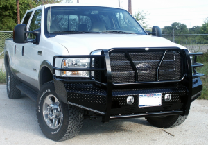 Front Bumper Replacement - Ford - Frontier Gear - Frontier 300-10-5005 Front Bumper Ford F250/F350 2005-2007