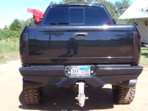 Frontier Gear Diamond Back Bumpers - Chevy/GMC - Frontier Gear - Frontier 100-29-9006 Rear Bumper without Lights Chevy Silverado 1500 1999-2006