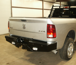 Truck Bumpers - Frontier Gear - Frontier 100-41-0004 Rear Bumper with Sensors and Lights Dodge RAM 1500 2009-2016