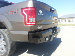 Truck Bumpers - Frontier Gear - Frontier 100-11-5011 Rear Bumper with Sensor Holes and Lights Ford F150 2015-2018
