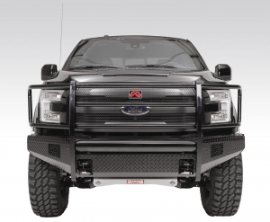 Truck Bumpers - Fab Fours Black Steel - Ford F150 2015-2017