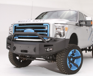 Truck Bumpers - Fab Fours Premium - Front Winch Bumper with Pre-Runner Bar