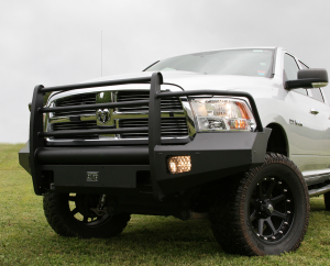 Bumpers by Style - Ranch Style Bumpers - Fab Fours Black Steel Elite