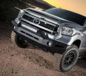 Toyota Tundra Bumper - Toyota Tundra 2014-2017 - ICI Innovative Creations - ICI FBM55TYN-RT Winch Front Bumper with RT-Series Light Bar Toyota Tundra 2014-2017