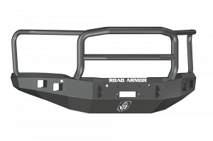 Road Armor - Road Armor 214R5B-NW Front Stealth Non-Winch Bumper Lonestar Guard with Square Light Mounts GMC Sierra 1500 2014-2015