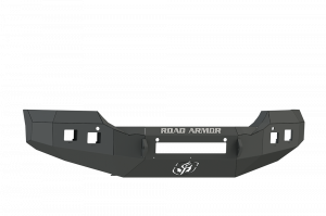 Truck Bumpers - Road Armor - Road Armor 215R0B-NW Front Stealth Non-Winch Bumper with Square Light Holes + GMC Sierra 2500HD/3500 2015-2019