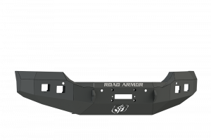 Truck Bumpers - Road Armor - Road Armor 215R0B Front Stealth Winch Bumper with Square Light Holes GMC Sierra 2500HD/3500 2015-2019