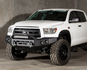 Toyota Tundra Bumper - ICI Innovative Creations - ICI FBM15TYN Non-Winch Front Bumper with Square Light Holes Toyota Tundra 2007-2013