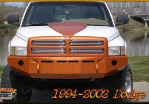 Truck Bumpers - Fusion Bumpers - Fusion 9402RAMFB Front Bumper Dodge RAM 2500/3500 1994-2002