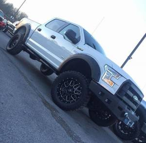 Ford F150 Bumpers - Hammerhead Bumpers - Hammerhead 600-56-0504 Low Profile LED Front Bumper with Square Light Holes Ford F150 2015-2017