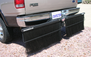 "Towtector Pro Rock Guard (Black Steel Frame) - Full Size Trucks (78"" Rock Guard System) - Towtector - Towtector 27822 Premium Brush System 78"" Wide x 22"" Height for 2"" Receiver"
